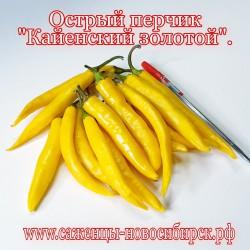"""Семена острого перца  сорта """"Кайенский золотой"""""""